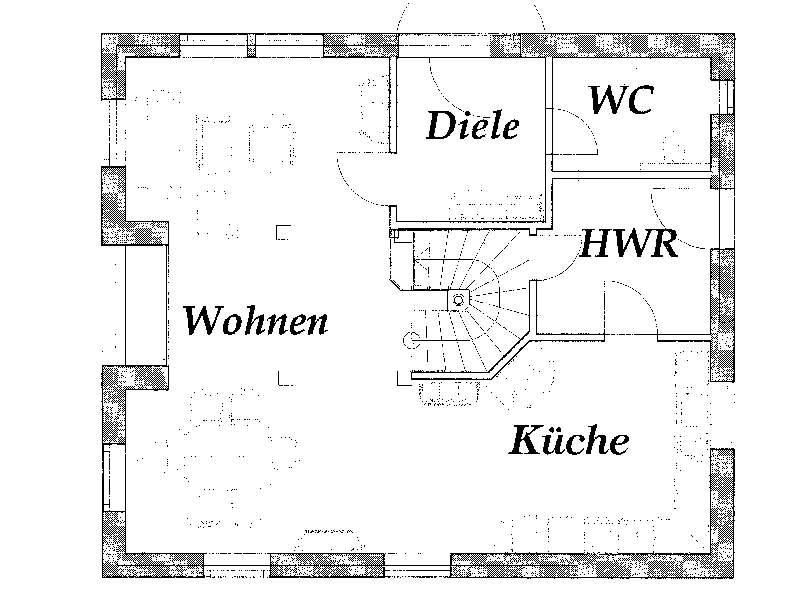 Grundriss Erdgeschoss Jaqueline von Christianus