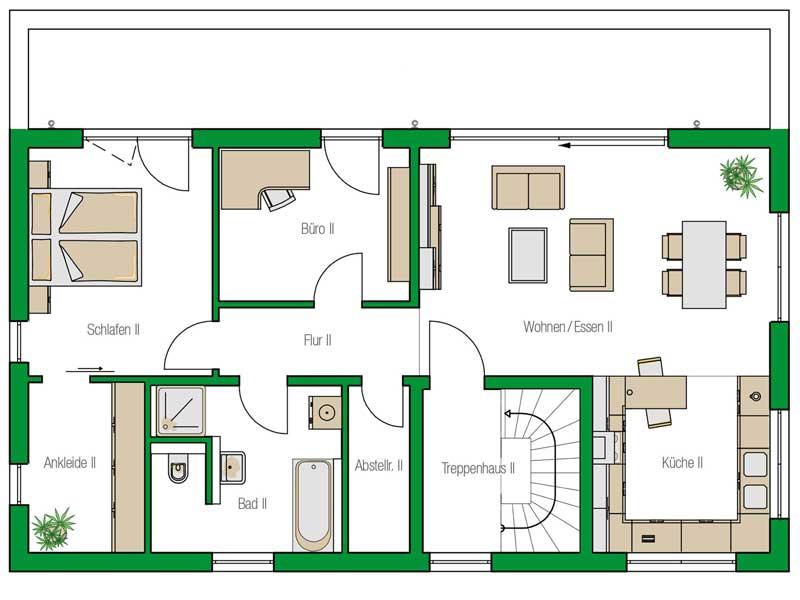 Grundriss Obergeschoss Haus Venlo von Helma