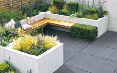 Beton im Garten Stein und Design