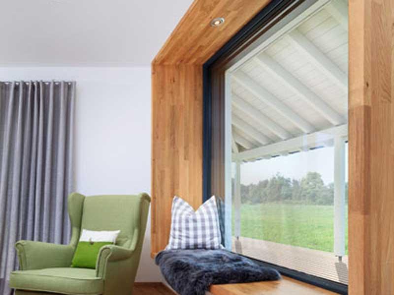 Stadthaus Bongart von Baufritz Sitzfenster