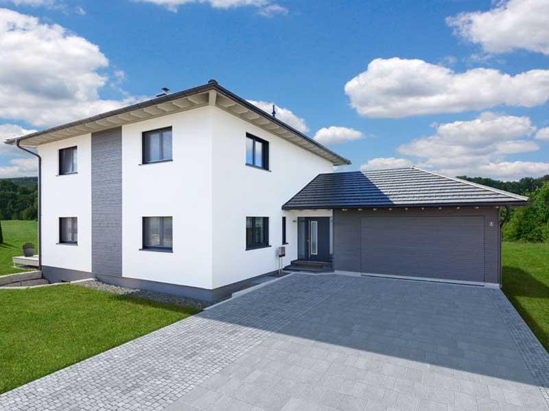 Stadthaus Bongart von Baufritz Garage Eingang