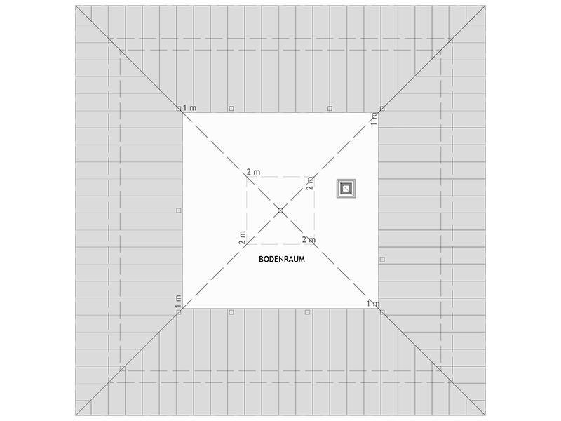 Grundriss Dachgeschoss Entwurf Bravur 400 von Fingerhaus