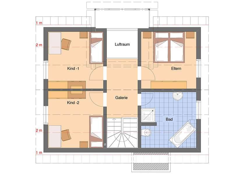 Grundriss Dachgeschoss VIO von Fingerhaus