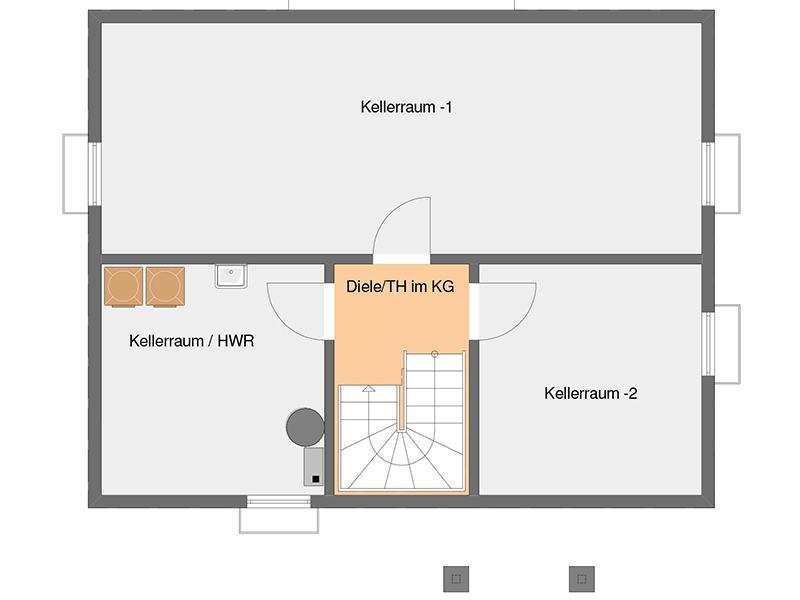 Grundriss Kellergeschoss VIO von Fingerhaus