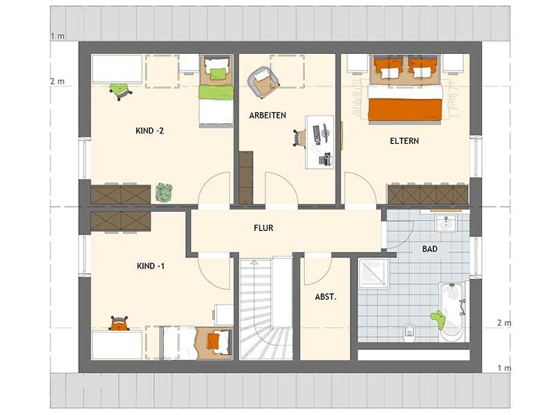 Grundriss Dachgeschoss VIO 420 von Fingerhaus