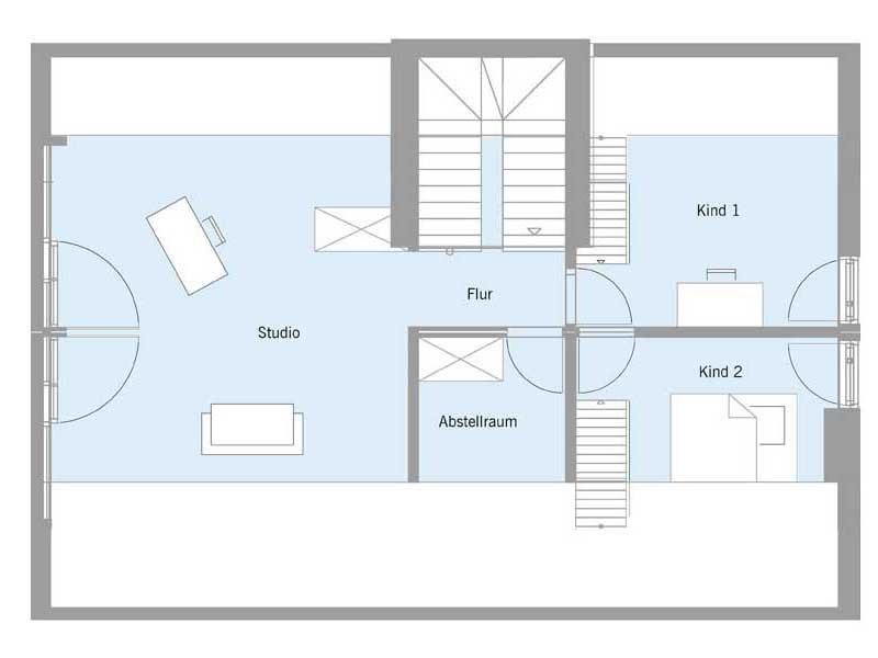 Grundriss Dachgeschoss Haus Steffen von Baufritz