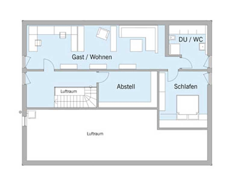 Grundriss Obergeschoss Haus Schweiger von Baufritz