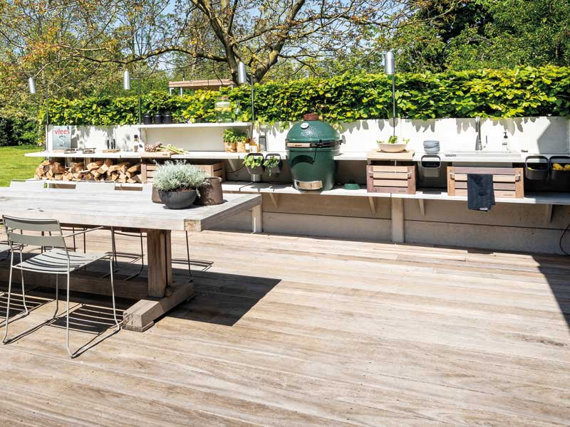 Outdoor-Küche Lange Theke