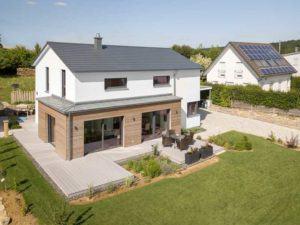 Kundenhaus Gruensfeld von Bittermann und Weiss Terrasse von oben