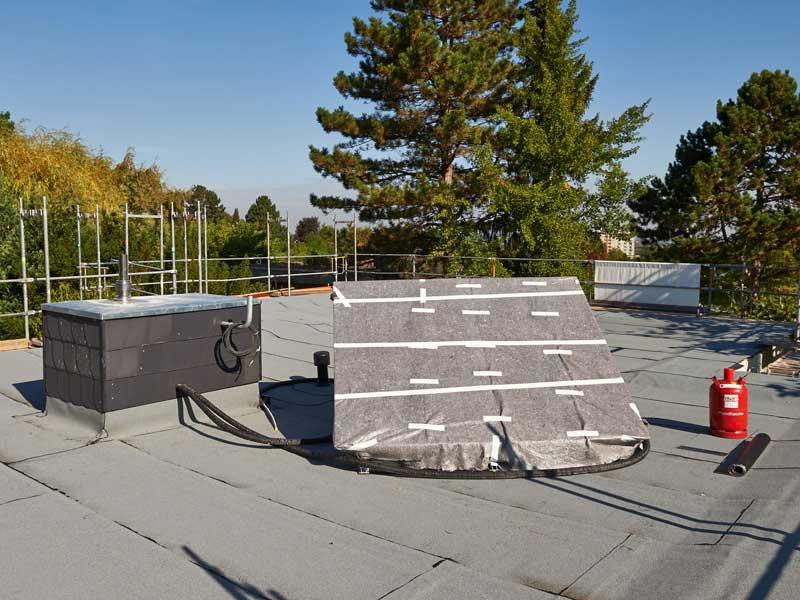 Flachdachsanierung Solarthermie