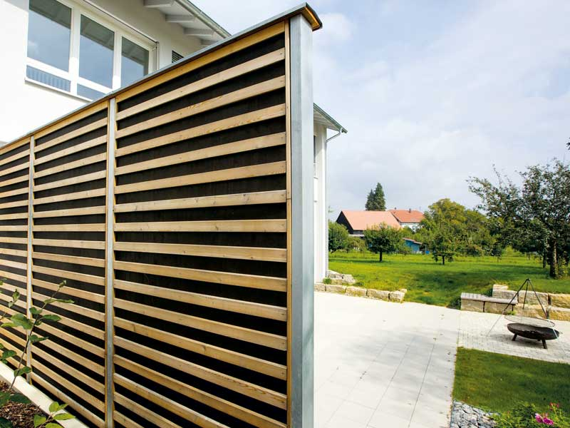 Lärmschutzschutz Holzwand