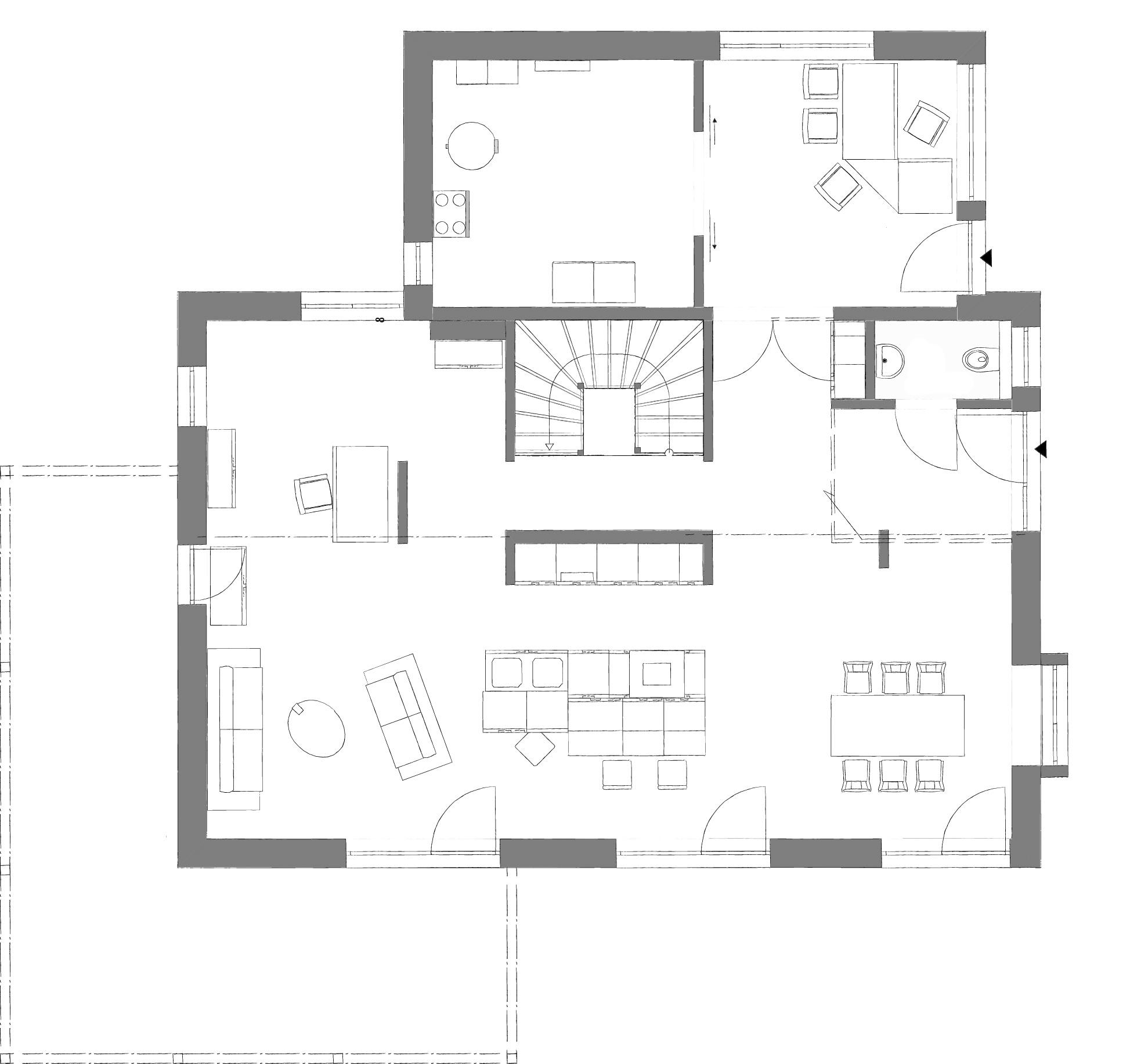 Lanos 5.1620 von Kampa. Grundriss Erdgeschoss