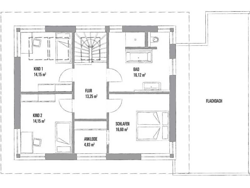 Grundriss Obergeschoss Entwurf Lanos 2 1591 von Kampa