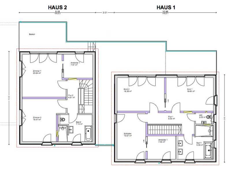 Grundriss Dachgeschoss Mehrgenerationenhaus Beck von Bittermann & Weiss