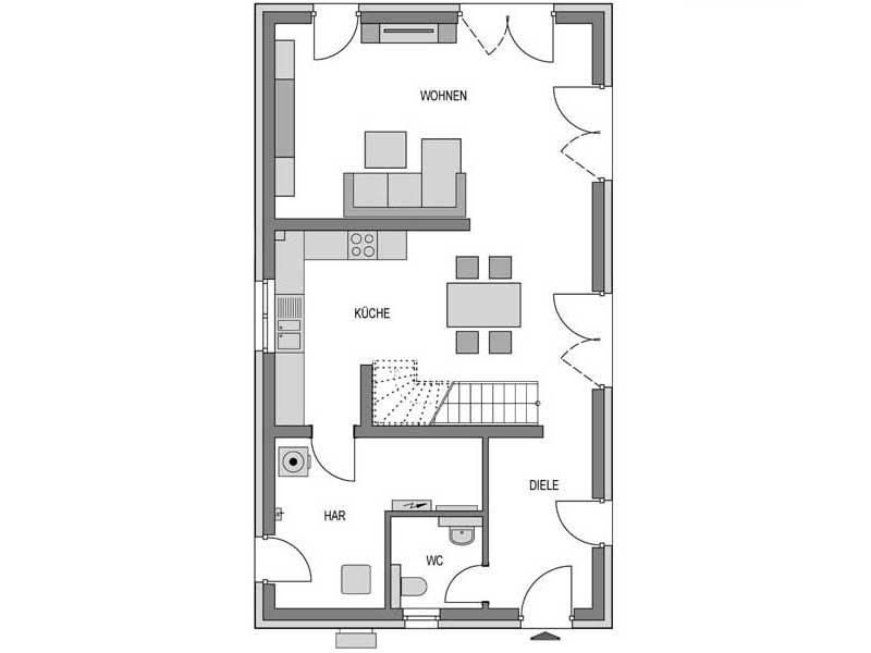 Grundriss Erdgeschoss Stratus 360 Putz von Heinz von Heiden