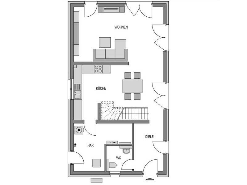 Grundriss Erdgeschoss Stratus 530 Putz von Heinz von Heiden