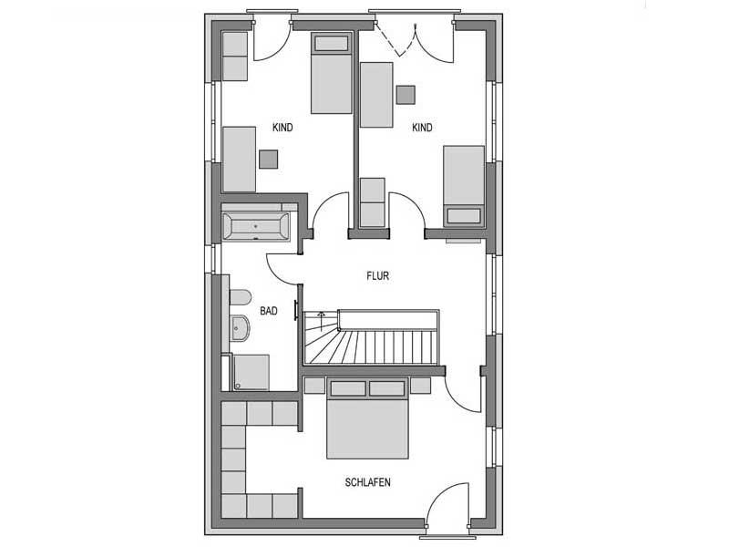 Grundriss Obergeschoss Stratus 360 Putz von Heinz von Heiden
