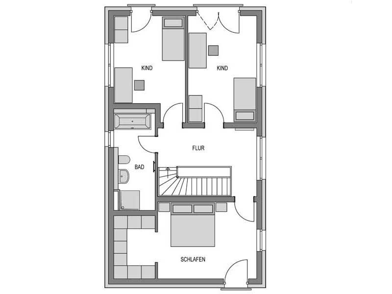 Grundriss Obergeschoss Stratus 530 Putz von Heinz von Heiden
