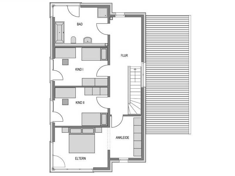 Grundriss Obergeschoss Cirro K10 Putz von Heinz Heiden