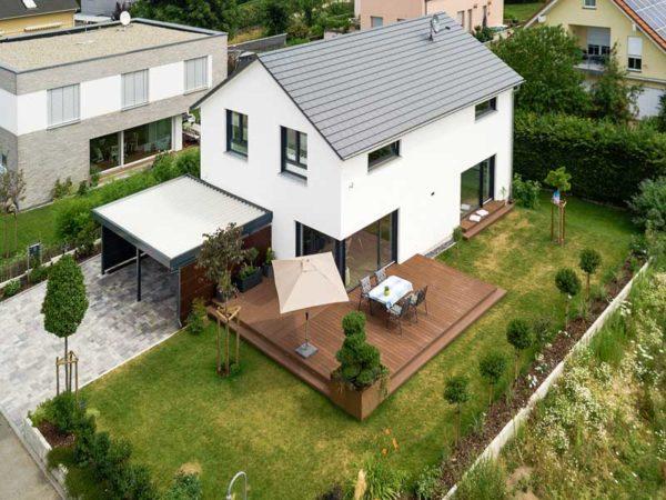 Kundenhaus Zwingenberg von Bittermann und Weiss Draufsicht
