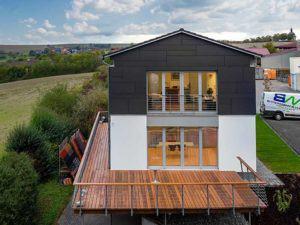 Musterhaus Gerchsheim von Bittermann und Weiss Giebelseite