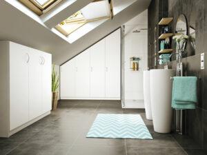 Badezimmer mit Dachschrägen Drempelschrank