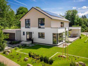 Kundehaus Hösbach-Feldkahl von Bittermann & Weiss. Außensicht
