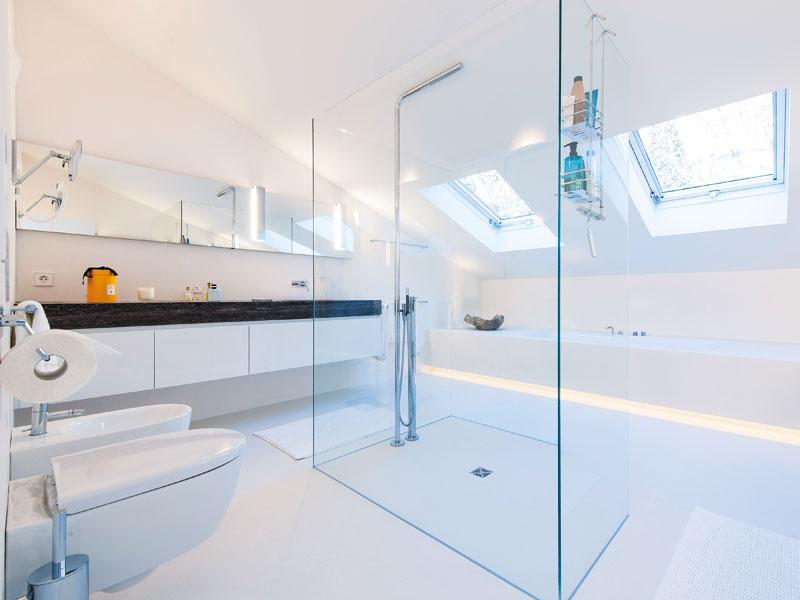 Badezimmer mit Dachschrägen Beispiel Wahl