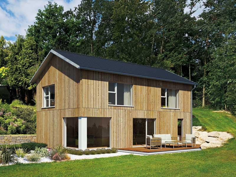 Fassadengestaltung mit Holz