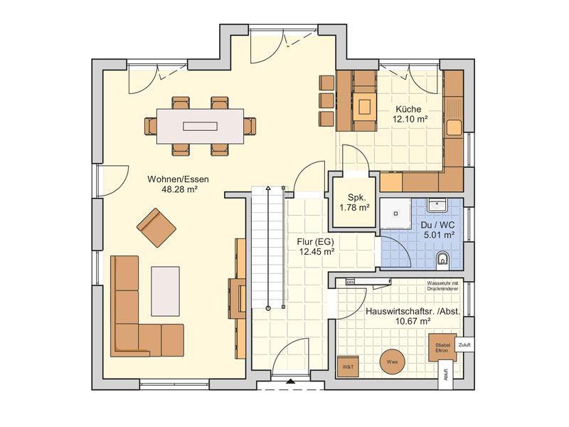 Grundriss Erdgeschoss Entwurf Socca von Fingerhuthaus