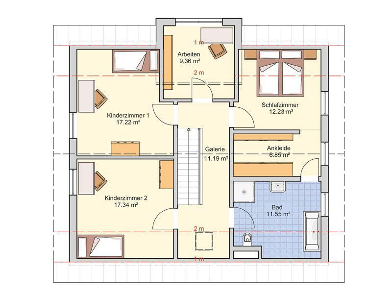 Grundriss Obergeschoss Entwurf Socca von Fingerhuthaus