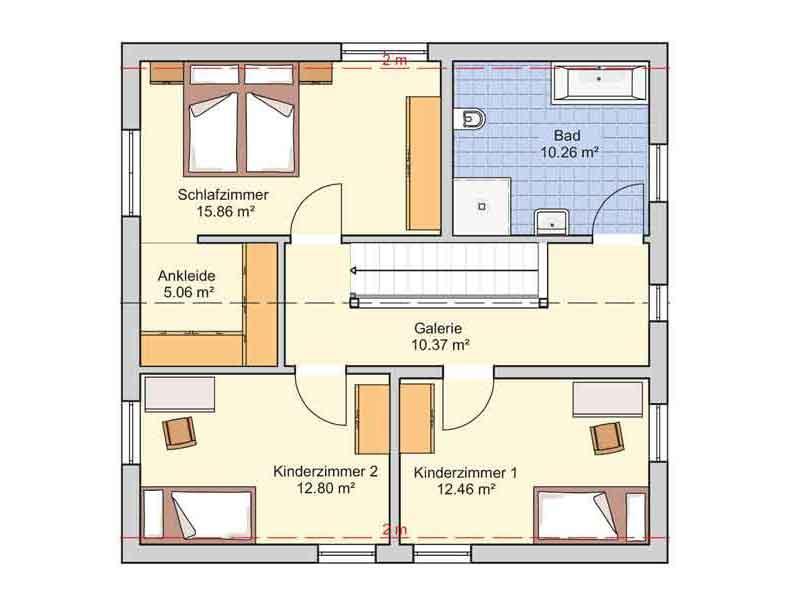Grundriss Dachgeschoss Entwurf London Fingerhut Haus