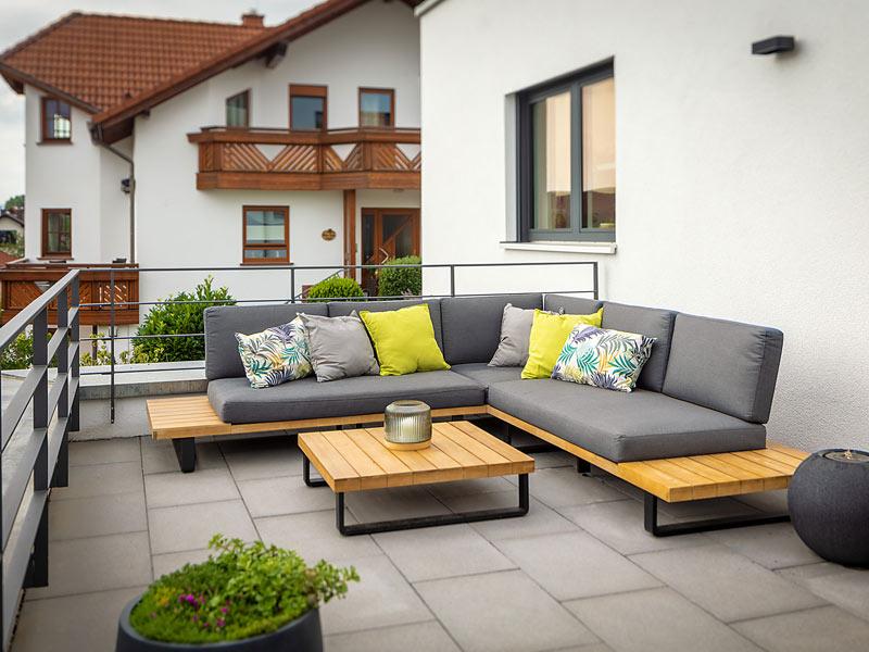 Kundenhaus Freiensteinau von Bittermann & Weiss Holzhaus. Terrasse