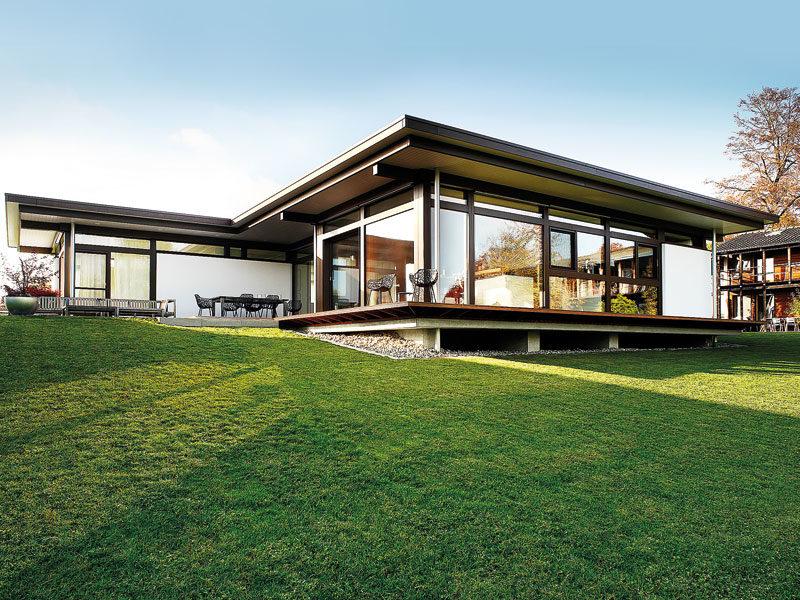 Modum Bungalow von Huf Haus. Außenbereich