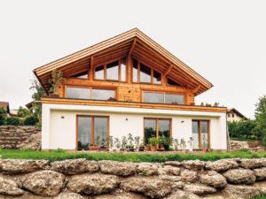 Blockhaus Halsbach von Chiemgauer Holzhaus aussen