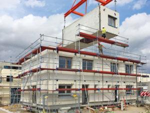 Musterhaus Space 6.4 der Deutschen Hausmanufaktur. Modulbauweise