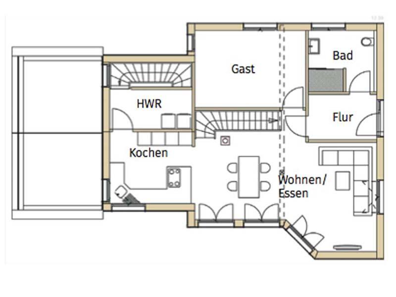 Grundriss Erdrgeschoss Design 171 Schumacher von Frammelsberger