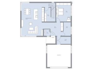 Grundriss Erdgeschoss Haus Zech