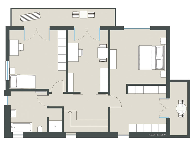 Grundriss Obergeschoss Modell Chelsea von Gussek Haus