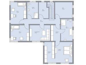 Grundriss Obergeschoss Haus Zech