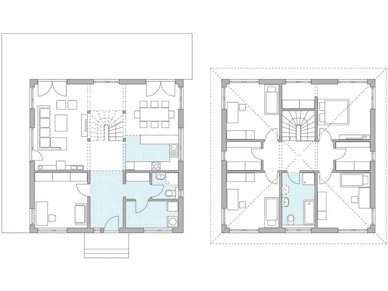 Grundrisse Entwurf Park 181 W von Danwood