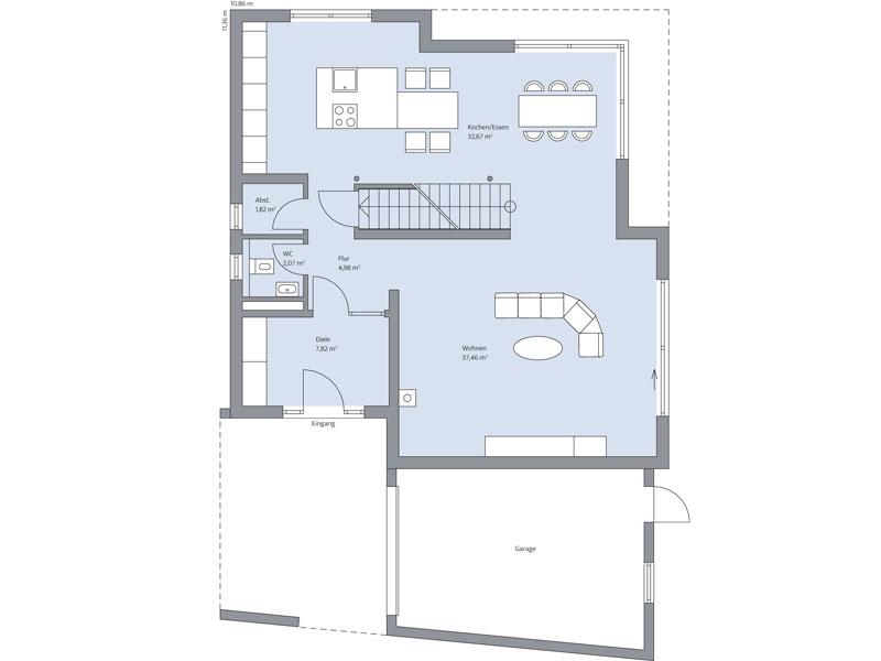 Grundriss Erdgeschoss Haus Althoff von Baumeister Haus