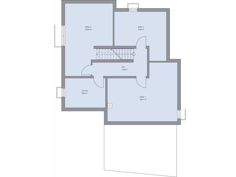Grundriss Keller Haus Althoff von Baumeister Haus