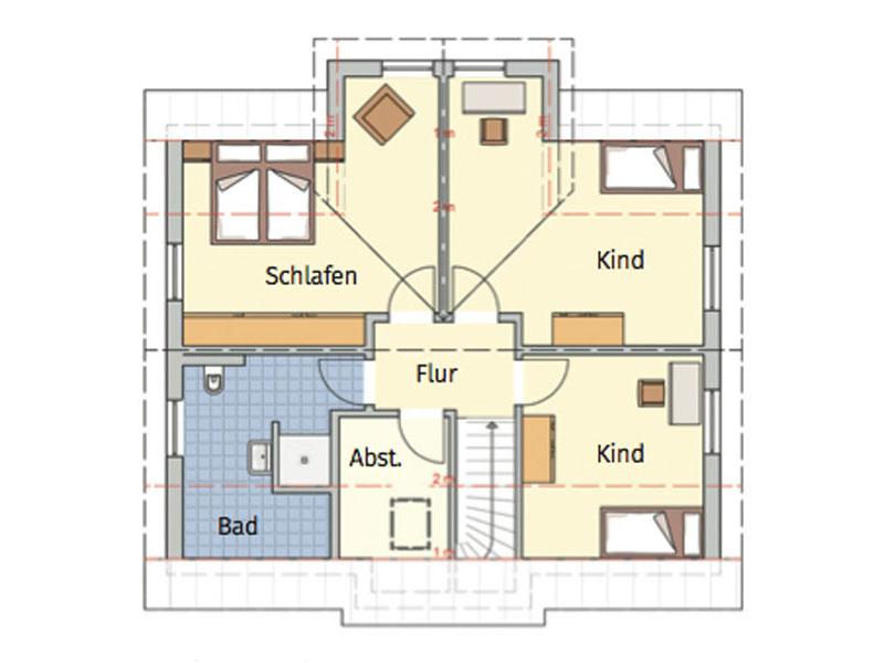 Grundriss Obergeschoss Entwurf Kelovon Fingerhut Haus