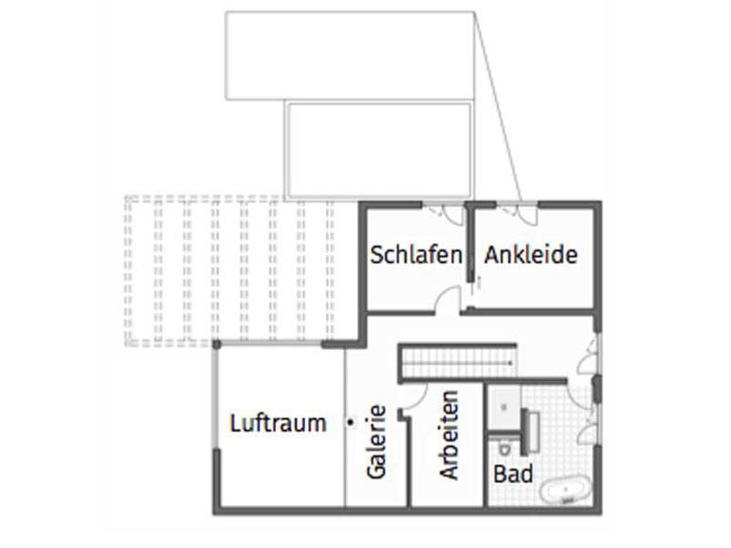 Grundriss Obergeschoss Homestory 741 von Lehner Haus