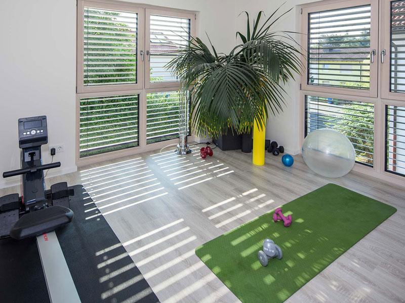 Fitness-Raum im Haus Althoff von Baumeister Haus
