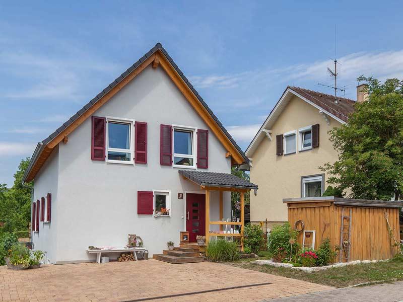 Haus Querfeld von Baumeister-Haus. Eingang