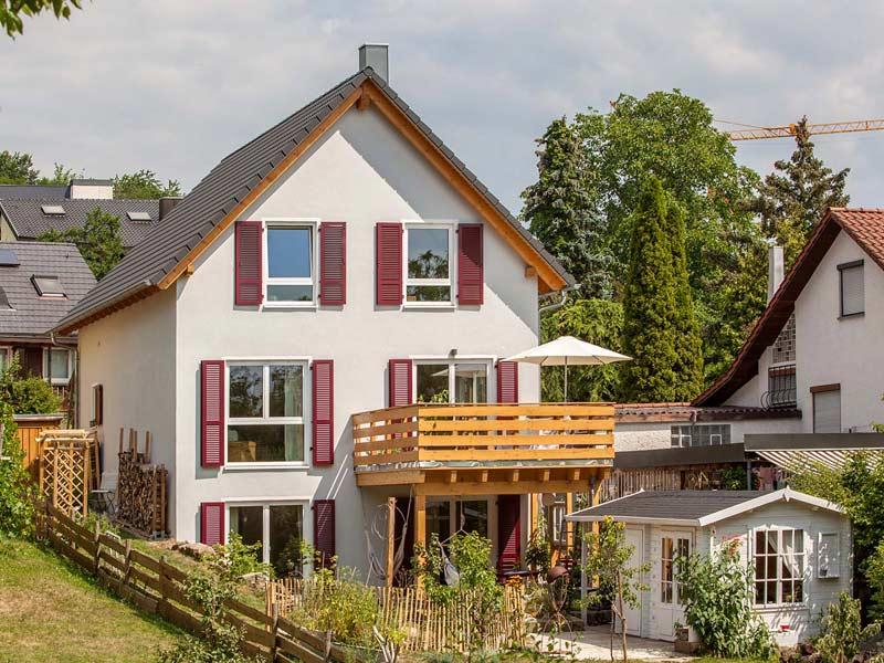 Haus Querfeld von Baumeister-Haus. Terrasse