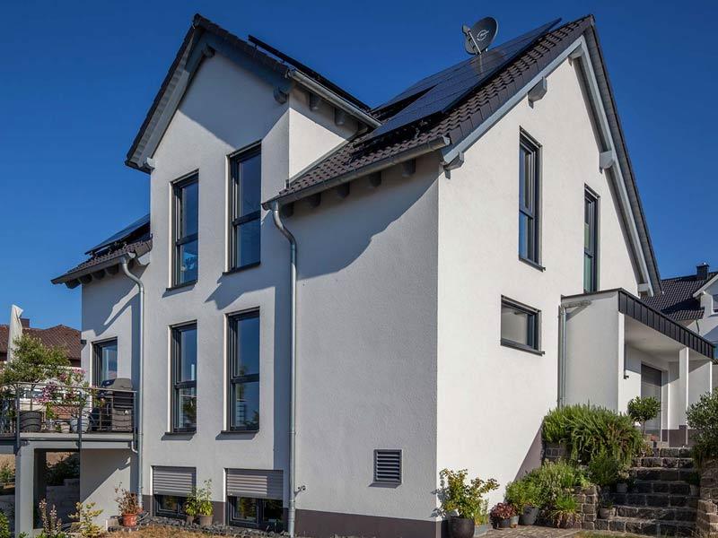 Haus Steinmann von Baumeisterhaus. Rückseite des Hauses.
