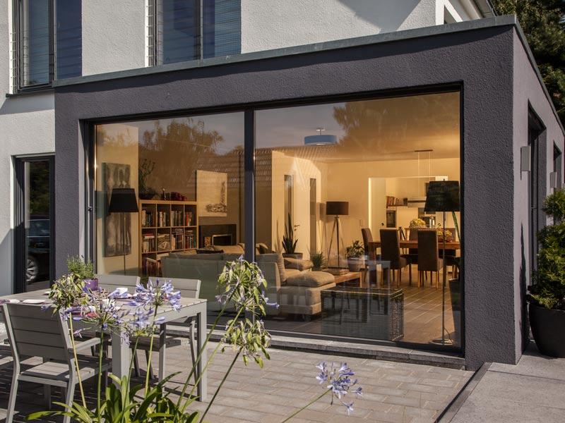 Haus Vettel von Baumeisterhaus. Erker im Wohnbereich